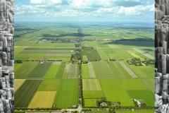 Referentiebeeld polder (winkelpui) en basaltblokken (trappenhuizen)