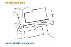 Nieuwe situatie - park en plein